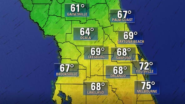 Strong cold front to bring Central Florida the coldest high temperatures since March