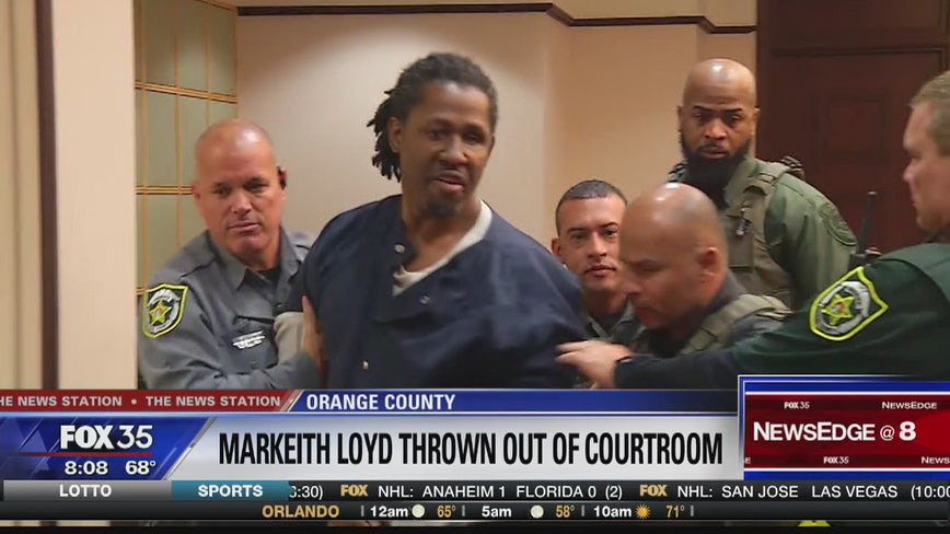 Markeith Loyd ushered out of court after outburst