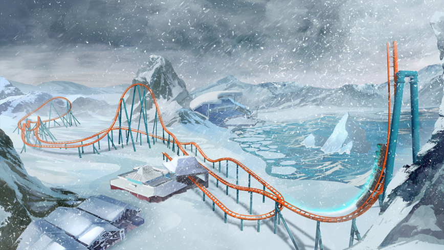 SeaWorld Orlando reveals ride vehicle for 'Ice Breaker,' their first launch coaster
