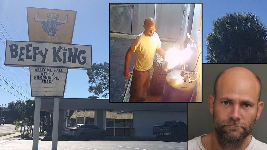 Police: Security video released of suspected arsonist at Beefy King
