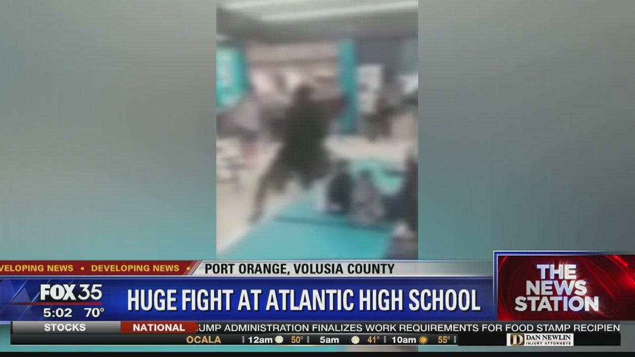 Huge fight at Atlantic High School ...