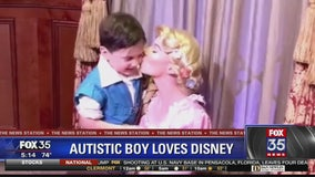 Autistic boy loves Disney