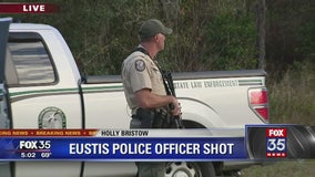 Search underway for suspect in shooting of Eustis police officer