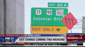 Exit change coming for Colonial Drive this weekend
