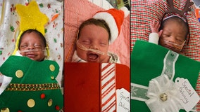 PHOTOS: Tallahassee hospital dresses up newborns for Christmas