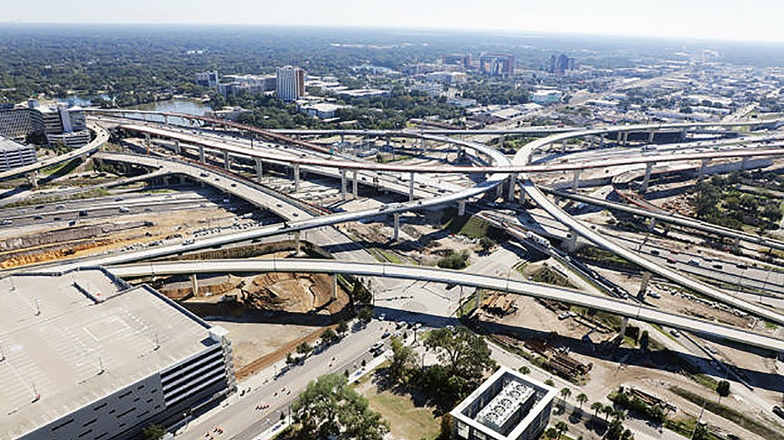 Multiple ramp, road closures in Downtown Orlando in December