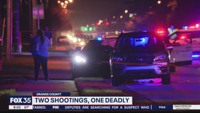 Authorities are investigating two shootings in Orange County just miles apart