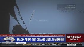 SpaceX scrubs abort test launch on Saturday