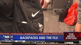 Flu virus could be hiding on backpack