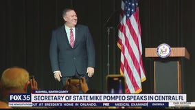 Secretary of State Mike Pompeo speaks in Sumter County