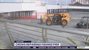 Repair work begins on Daytona Beach Pier