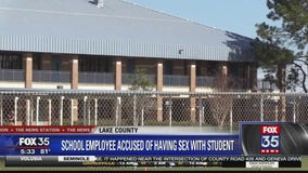 School employee accused of having sex with student