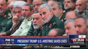 President Trump says deadly airstrike killing Soleimani saved lives