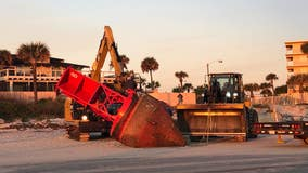 Bye bye, buoy! Officials remove giant buoy from New Smyrna Beach