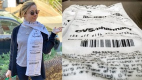CVS receipt-themed scarves turn long-running joke into fashionable reality