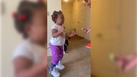 Single mom teaches daughter with cerebral palsy to walk in touching videos
