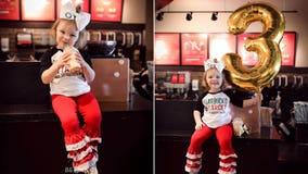 Girl, 3, celebrates birthday with Target, Starbucks-themed bash