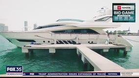 Mega-yacht tour
