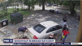 Shootout in broad daylight caught on Titusville surveillance camera
