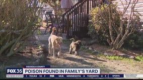 Poison found in family's yard