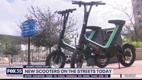 New scooters in Downtown Orlando have seats
