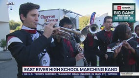 East River High School Marching Band performs on Good Day Orlando