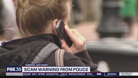 Scam phone call warning from police