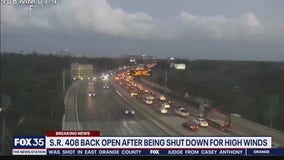 SR 408 now open after being closed in both directions