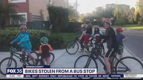 Bikes stolen from a bus stop in Marion County
