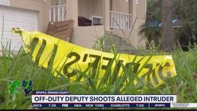 Off-duty deputy shoots alleged attruder
