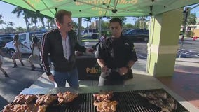 Game Day tailgate at Pollo Tropical in Miami Gardens