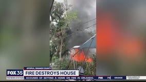 Pregnant woman escapes house fire
