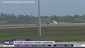 Plane skids to hard landing at Daytona Beach airport