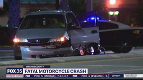 Fatal motorcycle crash in Orange County