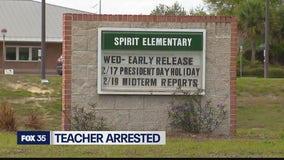 Teacher accused of kicking student
