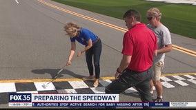 Daytona 500: Preparing the track
