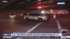 State Road 408 shut down in both direction at Interstate 4