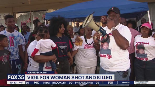 Vigil held for woman shot and killed