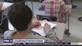 Students begin learning from home