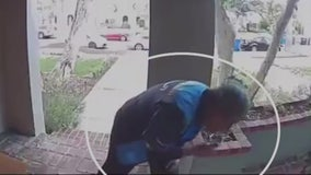 Amazon delivery driver caught on video spitting on package