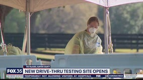 New drive-thru testing site opens in The Villages