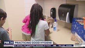 Schools teaching how to practice good hygiene