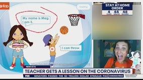 Teacher gets a lesson on coronavirus