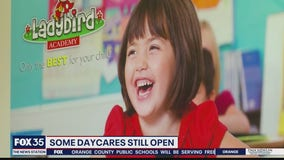 Some daycare centers still open