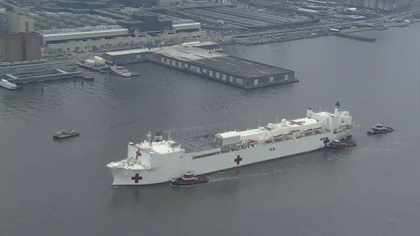 Crew member aboard USNS Comfort tests positive for coronavirus