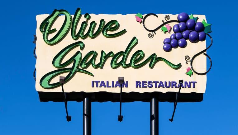 Olive Garden restaurant billboard ad