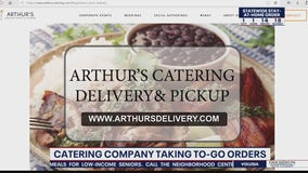 Catering company taking to-go orders