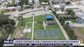 Using drones for coronavirus enforcement