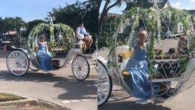 Cinderella brings magic to Florida neighborhood with special drive-by visit