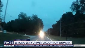 Wrong-way driver caught on camera